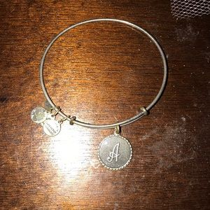 "Alex and ani ""a"" bracelet"